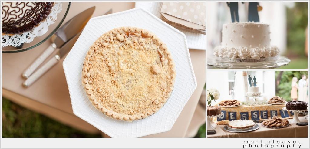 home wedding pie