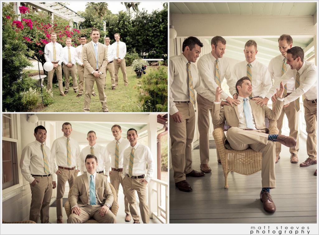 home weddings khaki groomsmen