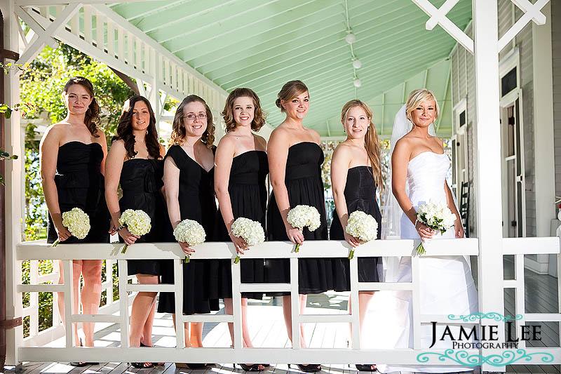 Black Dresses Bridesmaids Geremy Troy Jamie Lee