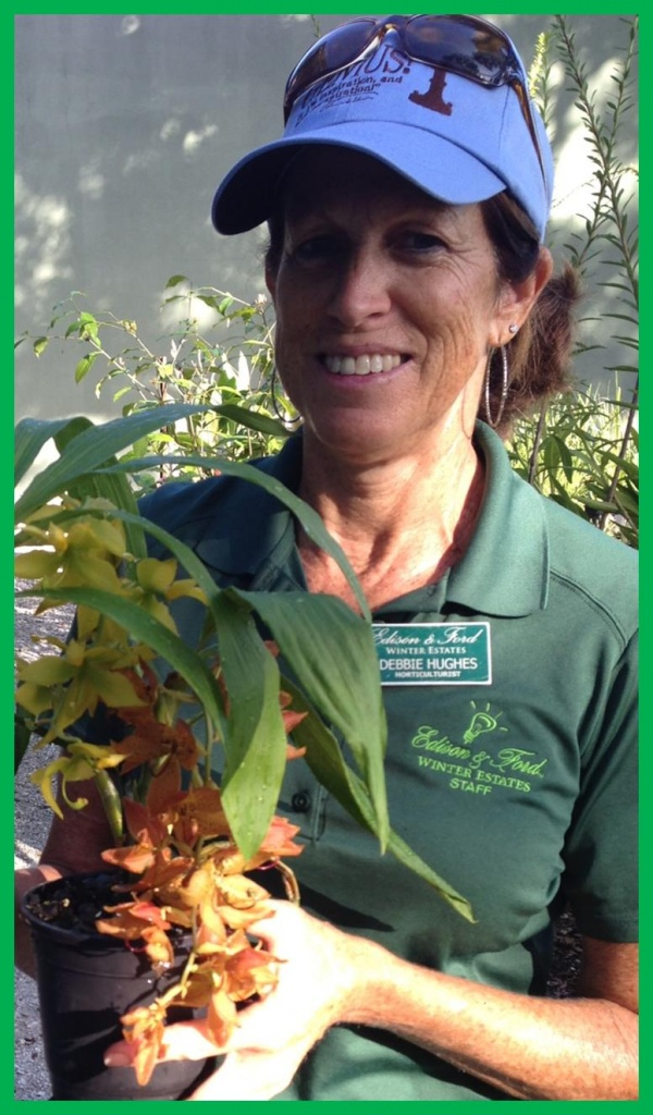 debbie with orchid sept 14
