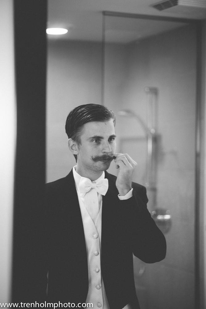 mustache wedding white tie tuxedo