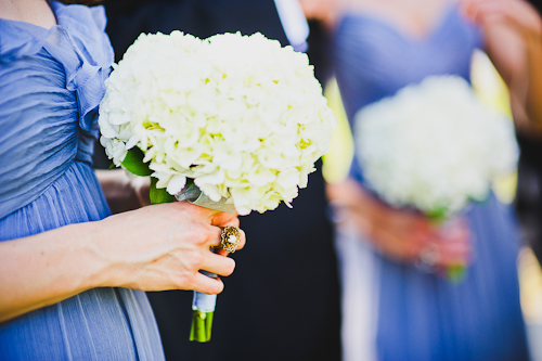 white hydrangea bridesmaid bouquets fort myers